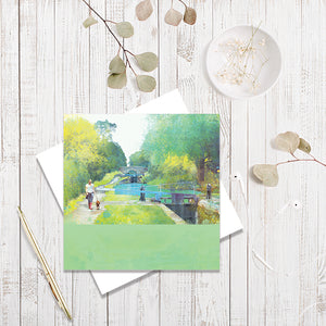 The Path Of Summer greetings card by Abigail Bryan
