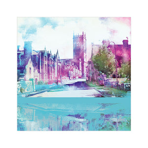 Whitchurch, Shropshire - Greetings Card by Abigail Bryan