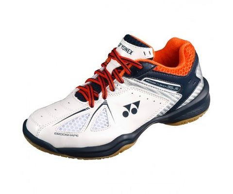 Yonex Badminton Shoes SHB35JREX White/Orange Power Cushion 35 Juinor