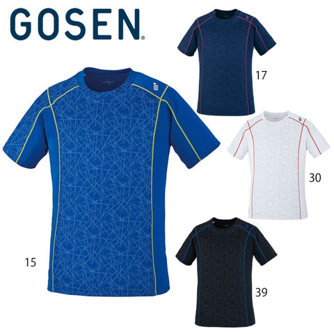 GOSEN shirt T2006 black/royal blue/navy/white