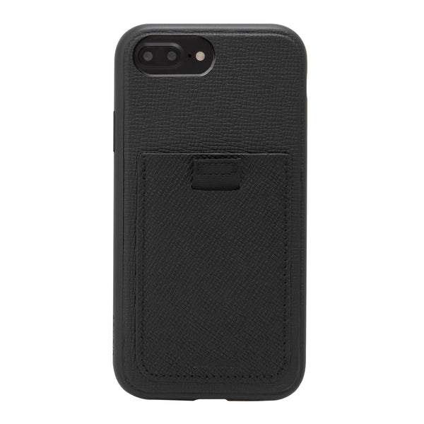 Black Leather Wallet Case, iPhone 8/7/6 Plus - Shop Bondir