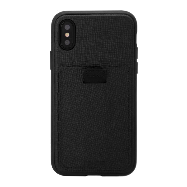 Black Leather Wallet Case, iPhone XS Max - Shop Bondir