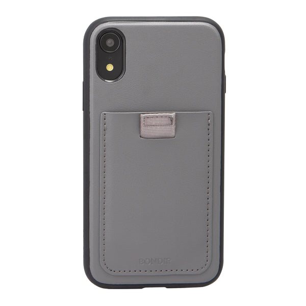 Gray Leather Wallet Case, iPhone XR - Shop Bondir