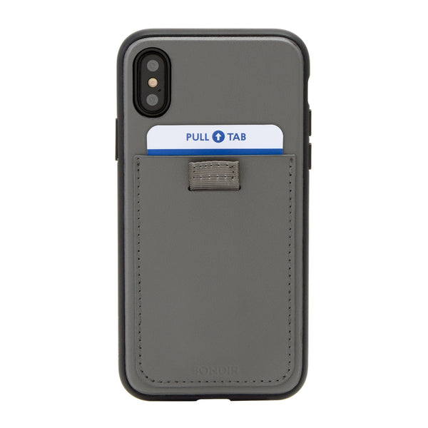 Case - Gray Leather Wallet Case, IPhone XS Max