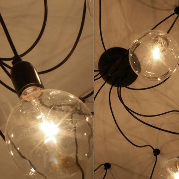 Retro Edison Bulb Fixture Pendant Chandelier Vintage Loft Antique Adjustable E27 AC110-220V Ceiling Lamp Lantern Fixture - ULTIMATE LED STORE || 50% OFF TODAY