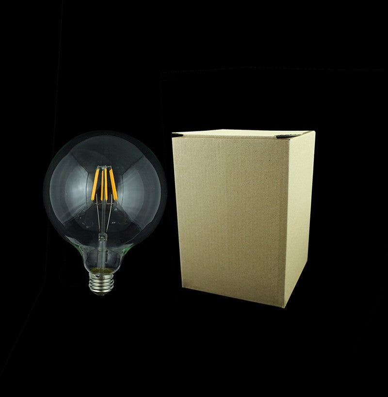 1x Dimmable Led Filament Bulb G125 G95 G80 Big light bulb 4W - 8W filament led bulb E27 clear glass indoor lighting lamp AC220V - ULTIMATE LED STORE || 50% OFF TODAY