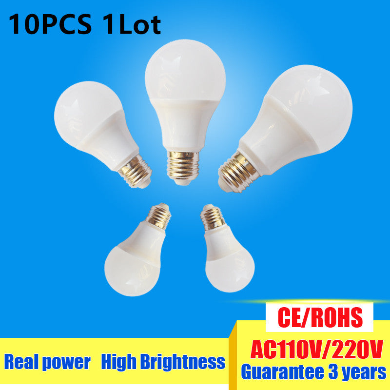 10pcs/lot  LED Bulb E27 3W 5W 7W 9W 12W 15W 220V 110v - ULTIMATE LED STORE || 50% OFF TODAY