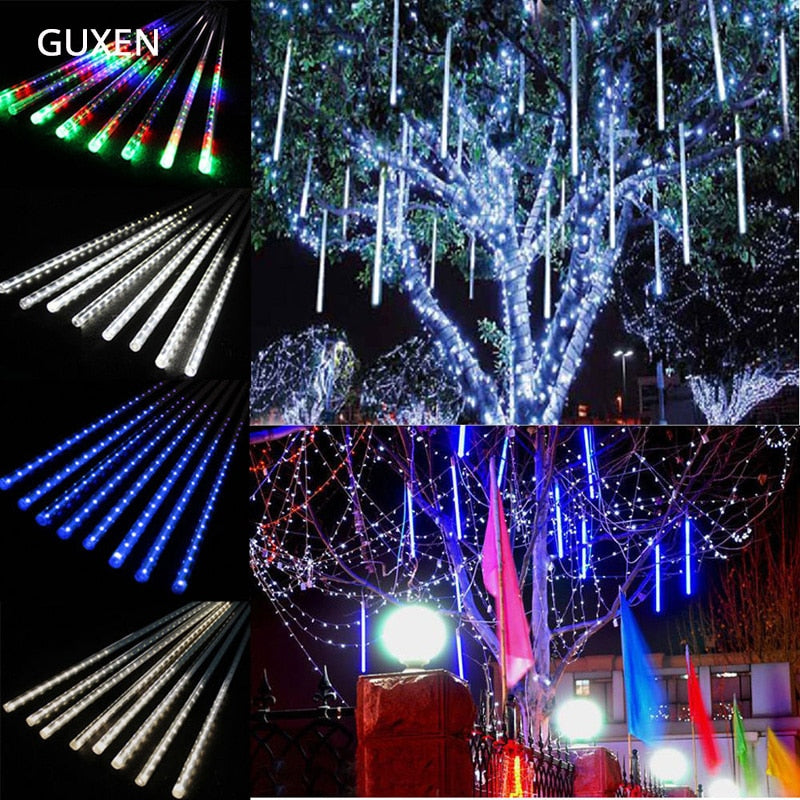 50CM 30CM 20CM Led string light Christmas light Meteor Shower Falling Star Rain Drop Icicle Snow Fall LED Xmas String Light - ULTIMATE LED STORE || 50% OFF TODAY