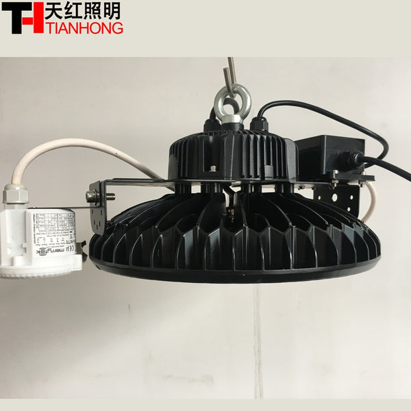 LED high bay light 150w led light bulb for indoor large factory warehouse garage with dusk to dawn Dimmable Motion sensor