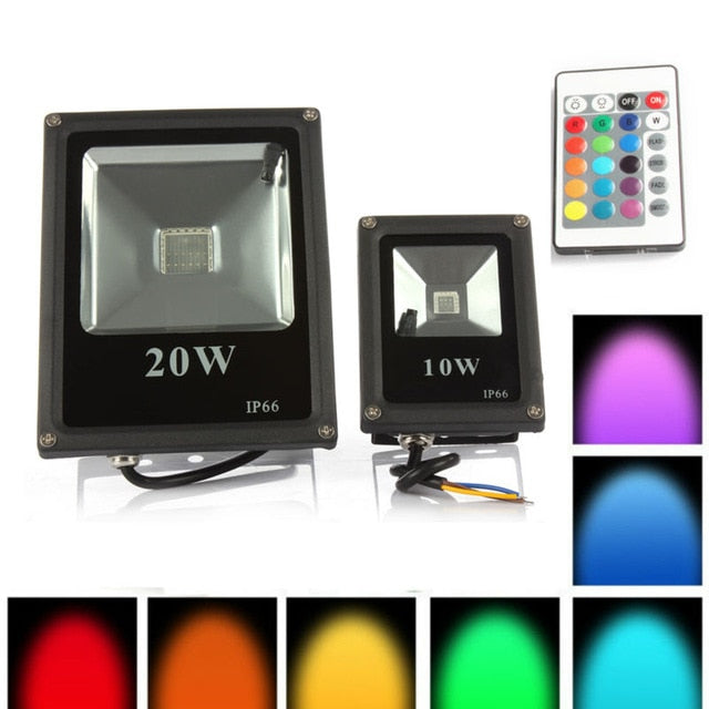 1pcs Spotlight Outdoor RGB LED 10W 20W 30W 50W IP65 Waterproof Led Floodlight Led Reflector Lamp Spot Flood Light AC85-265V - ULTIMATE LED STORE || 50% OFF TODAY