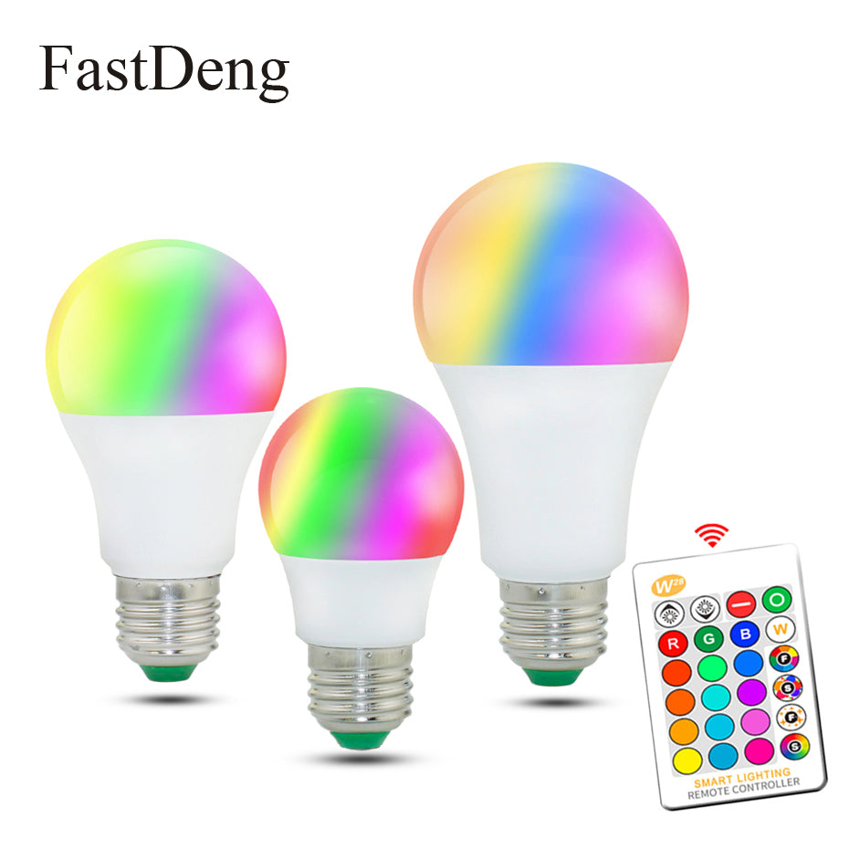 110V 220V E27 RGB LED Bulb Lights 5W 10W 15W RGB Lampada Changeable Colorful RGBW LED Lamp With IR Remote Control+Memory Mode - ULTIMATE LED STORE || 50% OFF TODAY