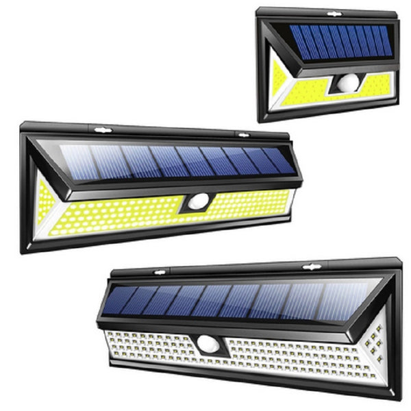 118 LED Solar Lamp Wall Light IP65 Waterproof Wide Angle Outdoor Garden Yard Garage Emergency Security Lighting Wall Light