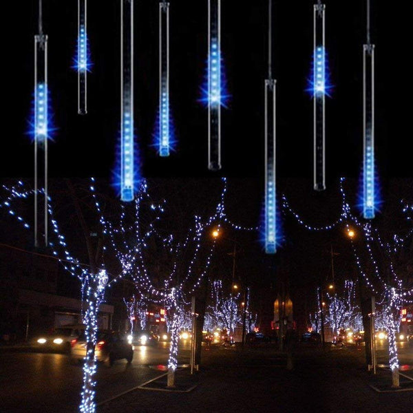 LED Meteor Shower Lights 30cm 8 Tube LED Fairy String Lights Falling Rain Drop Icicle Snow Fall String Waterproof Lights for Hol - ULTIMATE LED STORE || 50% OFF TODAY