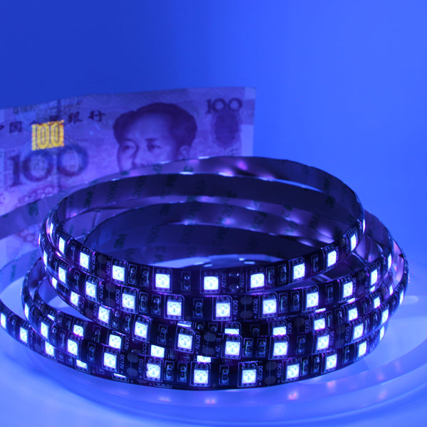 UV Led Strip light 5050 SMD 60leds/m 395-405nm Ultraviolet Ray LED Diode Ribbon Purple Flexible Tape lamp for DJ Fluorescence - ULTIMATE LED STORE || 50% OFF TODAY