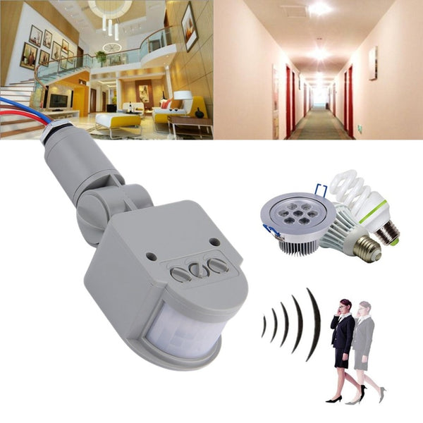 Motion Sensor Light Switch Outdoor AC85V~265V 50Hz/ DC12V Automatic Infrared PIR Motion Sensor Switch With LED Light