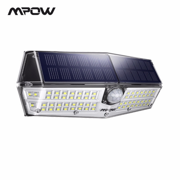 Mpow CD174 3 Adjustable Light Model 66 LED Bright Solar Powered Outdoor Lights IP66 Waterproof For Garden Yard Patio Garage Wall