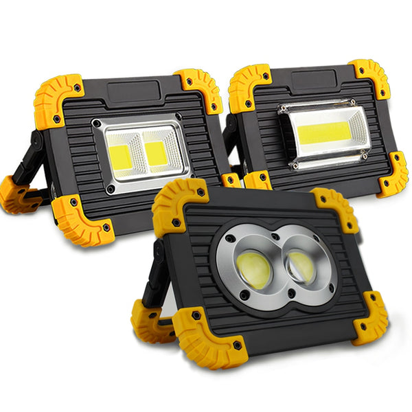 1 Pcs flood light 20w DC5V 400 lm USB Charging 18650 Rechargeable led reflector flood Lamp Portable Emergency Lighting+USB Cable - ULTIMATE LED STORE || 50% OFF TODAY