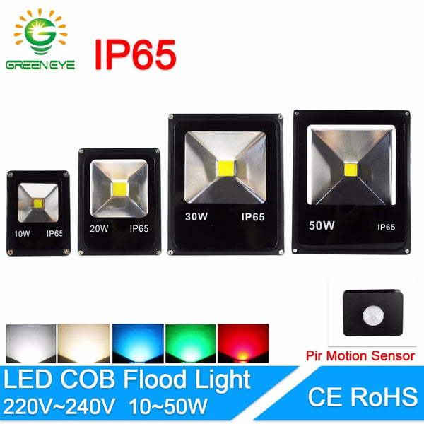 LED Flood Light 10W 20W 30W 50W Floodlight with sensor IP65 AC 220V  12V 85V LED Spotlight Outdoor Lighting Projector Reflector - ULTIMATE LED STORE || 50% OFF TODAY