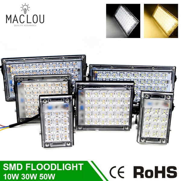 LED Flood Lights Outdoor 220V 10W 30W 50W IP65 LED Bouwlamp Super Bright SMD Waterproof Garden Floodlight Reflector Spotlight