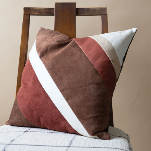 Storyteller Studio - Leather Desert Stripe Pillow