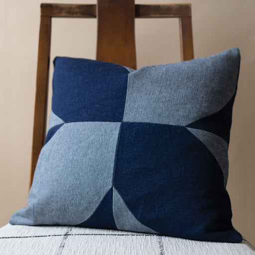 Storyteller Studio - Denim Magnolia Pillow
