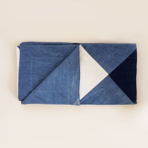 recycled denim picnic blanket