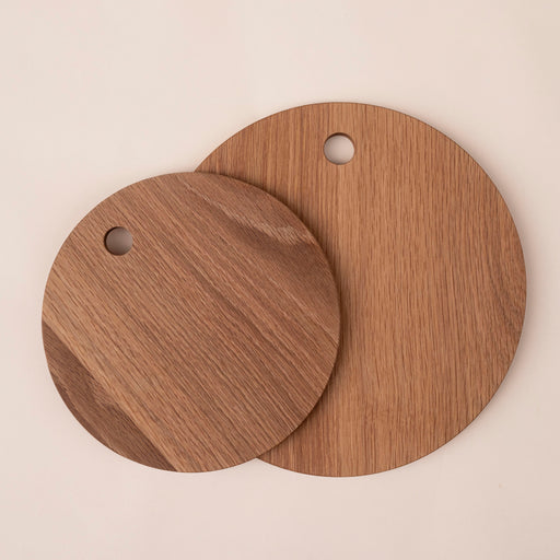 hardwood oak round cutting boards made by students at berea college available at storyteller studio