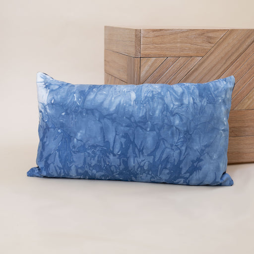 Denim Marbled Indigo Pillow