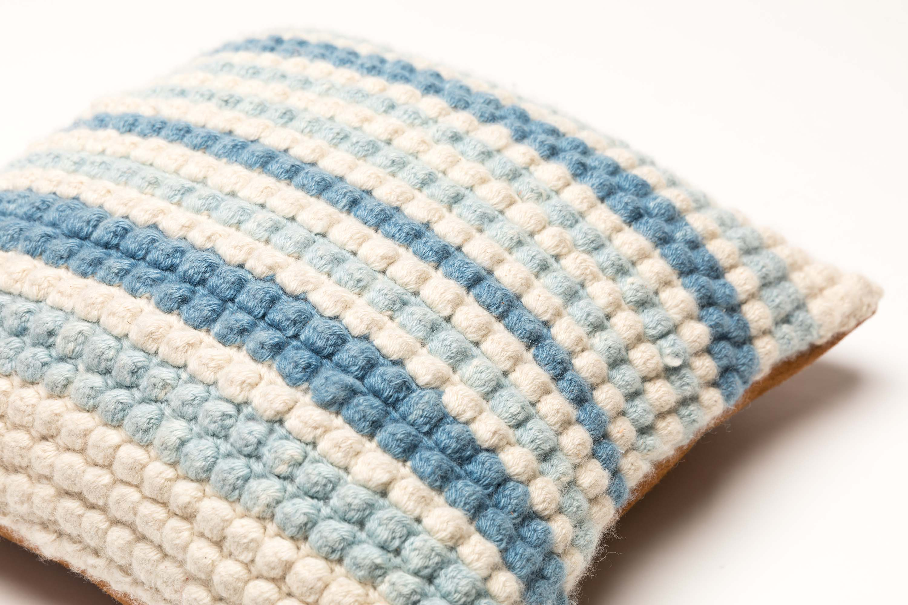 Indigo Bobble Stitch Pillow