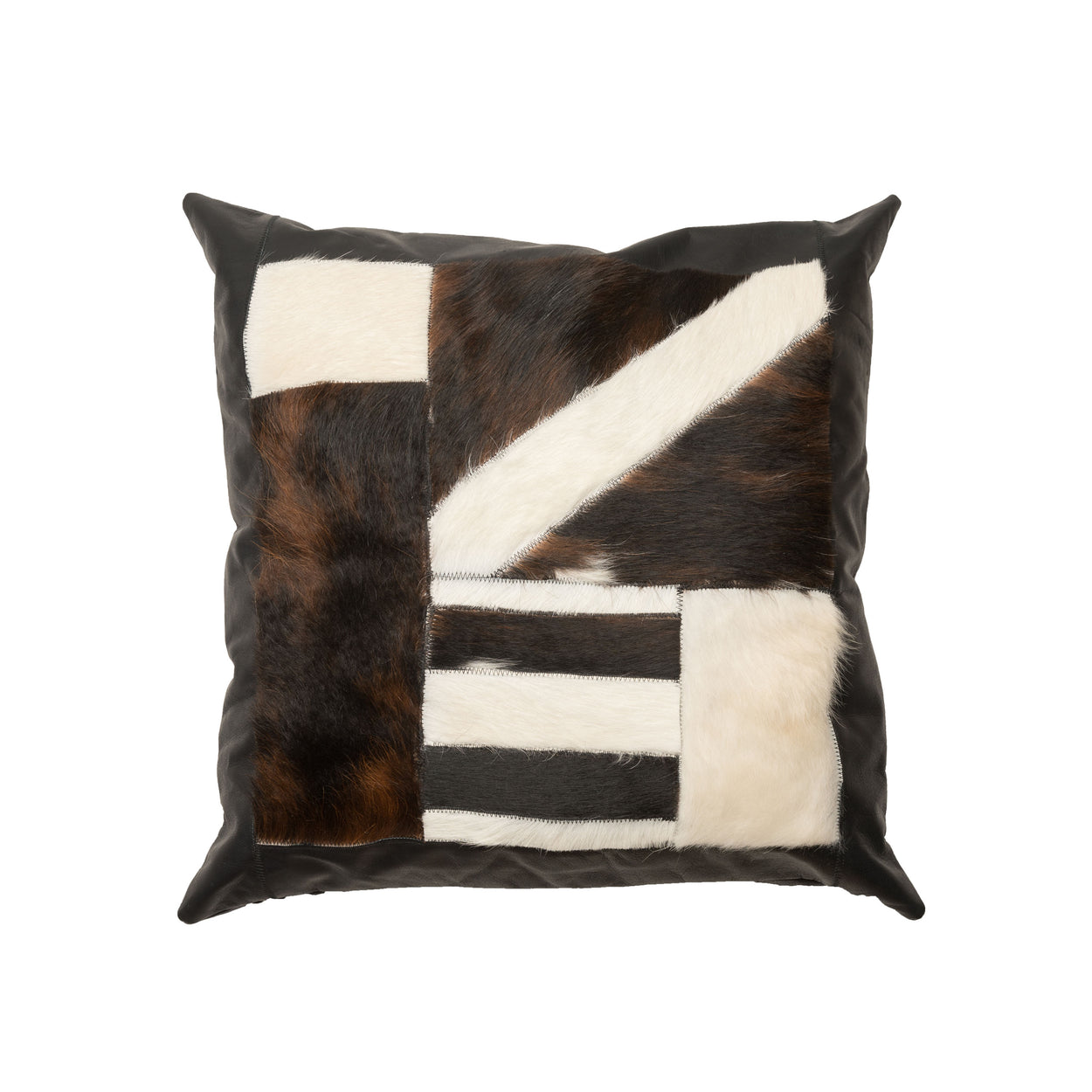 Tile Cow Hide Pillow