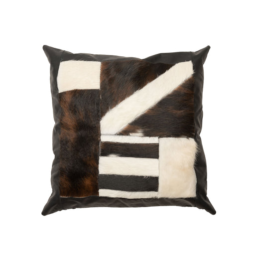 patchwork genuine cowhide pillows
