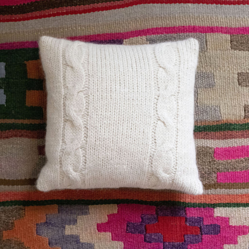 Stoyteller Studio - Alpaca Cable Knit Pillow