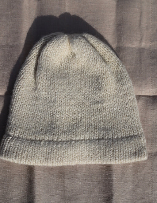 Natural Alpaca Knit Beanie