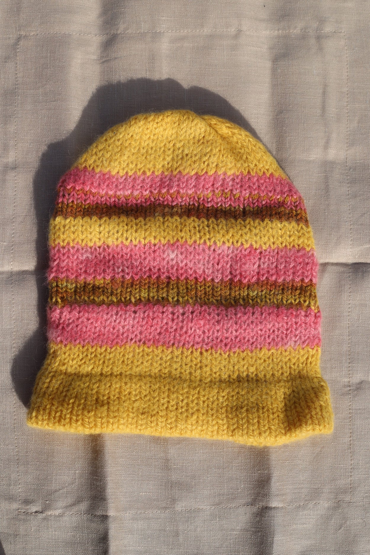 Sunset Alpaca Knit Beanie