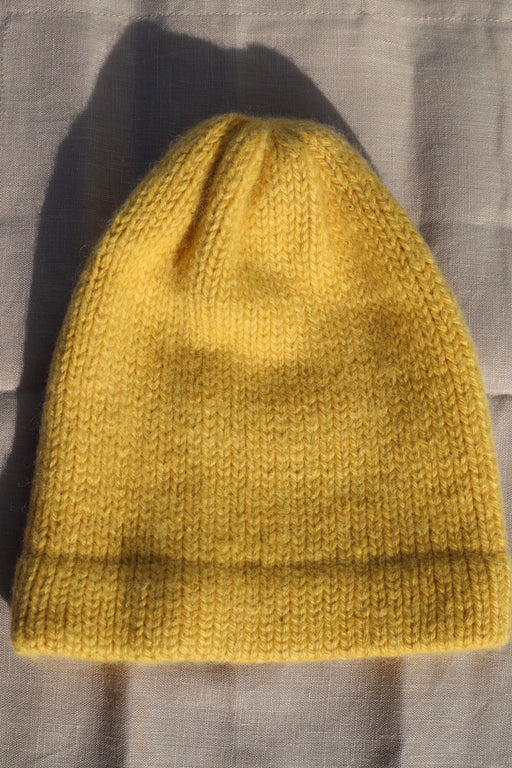 Yellow Alpaca Knit Beanie