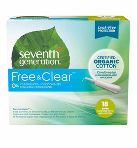 Organic Cotton Tampons with Comfort Applicator