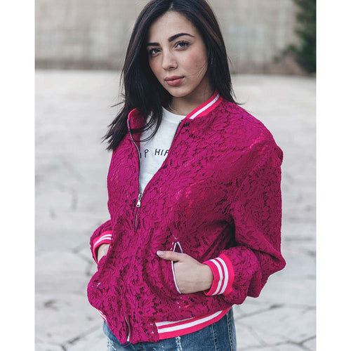 "GIACCA BOMBER IN PIZZO ""AMY"""