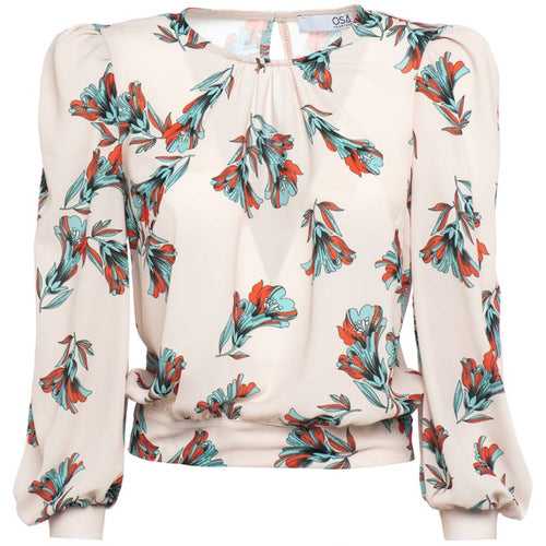 Blusa in georgette stampa floreale