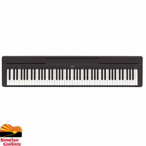 Sunrise Guitars in Fayetteville, Arkansas is proud to carry the Yamaha P-45B keyboard. The authentic piano sound and key feel make it easy to play this simple model any way you like.