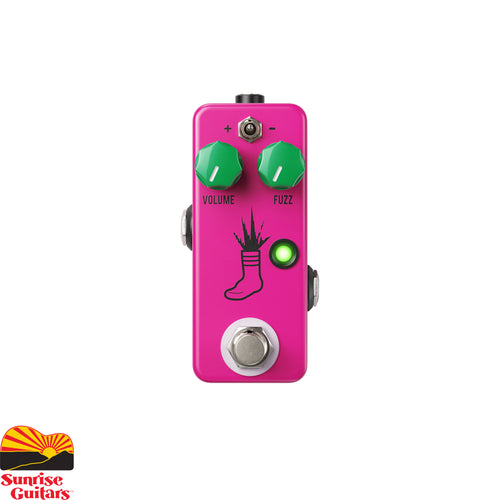 Sunrise Guitars in Fayetteville, Arkansas is proud to carry the JHS Mini Foot Fuzz V2 pedal. Welcome to the next generation of tiny fuzz that you turn on with your foot… or the Mini Foot Fuzz V2 as we like to call it.