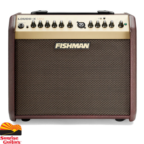 Sunrise Guitars in Fayetteville, Arkansas is proud to carry the Fishman Loudbox Mini with Bluetooth. Fishman's lightest and most portable amp now with the addition of Bluetooth wireless connectivity! The Loudbox Mini delivers the tonal quality that has made the Fishman name the standard for great acoustic sound.