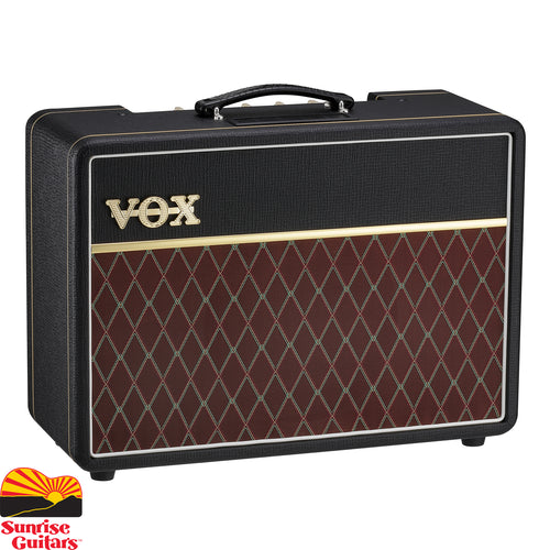 Sunrise Guitars in Fayetteville, Arkansas is proud to carry the Vox AC10C1 amp.  The AC10 was one of the first amplifiers to bear the VOX name and has long been adored for his ability to achieve rich, articulate tube tone at very manageable volumes.