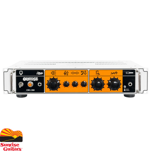 Sunrise Guitars in Fayetteville, Arkansas is proud to carry the Orange OB1-500. For years bassists have been combining guitar and bass amps to remarkable effect, adding harmonics and layers of overdrive from a guitar amp to their core bass tone in pursuit of the ultimate live sound.