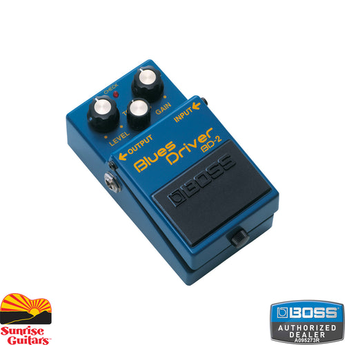 Sunrise Guitars in Fayetteville, Arkansas is proud to carry the Boss BD-2 Blues Driver. The BD-2 Blues Driver delivers the creamy, yet crunchy sound associated with great blues guitar.