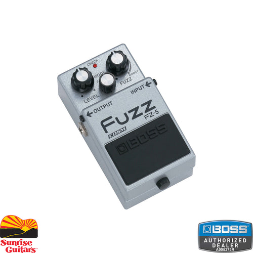 Sunrise Guitars in Fayetteville, Arkansas is proud to carry the Boss FZ-5 Fuzz pedal. The FZ-5 is a modern pedal built for the modern guitarist, but the sounds you can get from the FZ-5 are pure retro.