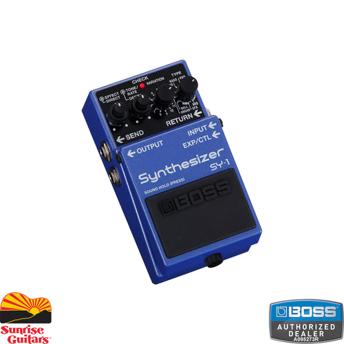 Sunrise Guitars in Fayetteville, Arkansas is proud to carry the Boss SY-1 Synthesizer pedal. With the SY-1, it's never been easier to infuse your creative arsenal with BOSS's legendary guitar synth technology.