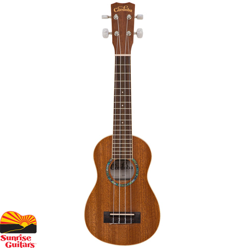 Sunrise Guitars in Fayetteville, Arkansas is proud to carry the Cordoba 15SM soprano ukulele. The 15 series is a perfect place to start on ukulele.