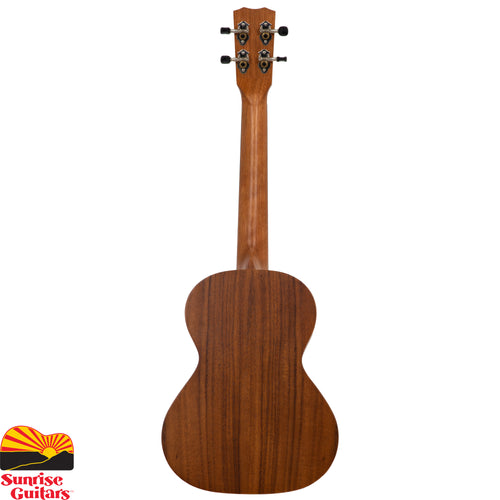 Sunrise Guitars in Fayetteville, Arkansas is proud to carry the Cordoba 25T tenor ukulele. The 25 Series embodies the charm of traditional ukulele ornamentation combined with the striking natural figure of acacia, an exotic tropical wood closely related to koa, the beloved tonewood native to Hawaii.