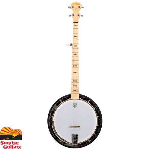 Sunrise Guitars in Fayetteville, Arkansas is proud to carry the Deering Goodtime 2 banjo. A resonator back provides more projection of sound in the Goodtime Two. Made here in the USA at the Deering shop with the same tooling they use to make the top of the line banjos.