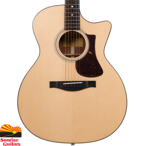 Sunrise Guitars in Fayetteville, Arkansas is proud to carry the Eastman AC122-1CE acoustic guitar. Whether you're a solo flat picker, finger picker, or ensemble player, the warm, balanced tonal nature and sound projection of the grand auditorium makes this an ideal choice for players of all kinds.